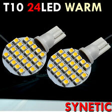 6x T10/921/194 Warm White RV Trailer Interior 12V LED Light Bulbs 24 SMD