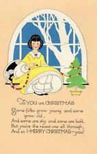 More details for art deco  children christmas greetings pc used 1920 cinderella stamp volland