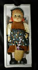 1982 Handpainted Bisque Porcelain Alpine Girl Doll from Chadwick Miller