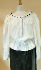 Yves Saint Laurent Rive Gauche white cotton Shirt Blouse 40 UK 12