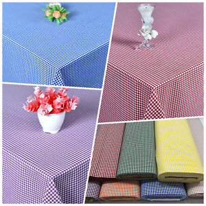 Gingham Check Tablecloth Kitchen Dining Table Covers Rectangle Square Round