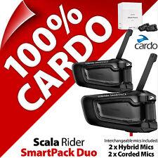 Nuevo Cardo Scala Rider Smartpack Duo Intercomunicador Auriculares Bluetooth Casco de Motocicleta