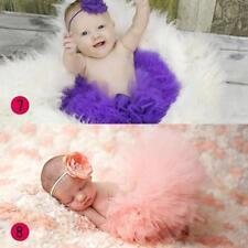 Vintage Pink Newborn Tutu Photo Prop with Headband