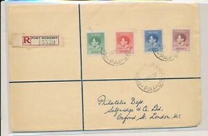 LN10047 Br Papua New Guinea 1937 silver jubilee registered cover used
