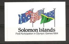 Solomon Islands SC # 532a- (2 Panes ) 534 1984 Summer Olympics .Booklet MNH
