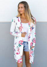 Casual Cardigan Loose Sweater Floral Long Sleeve Women Outwear Jacket Coat Tops
