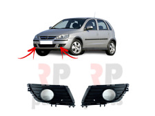 FOR OPEL VAUXHALL CORSA C 2003 - 2006 NEW FRONT BUMPER FOG GRILLE PAIR SET