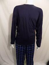 Club Room Fleece / Jersey Pajama Set 'Blue Plaid' (Lg)+NWT