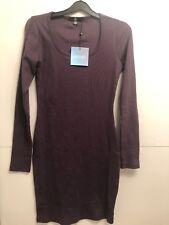 BNWT Missguided Purple Long Sleeve Bodycon Dress Size 8