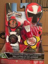 POWER Rangers Ninja ACCIAIO POWER STAR Booster Confezione da 2 CON LANCIATORE DI SERIE 2