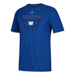Winnipeg Blue Bombers CFL Adidas Men's Blue Pop Climalite T-Shirt
