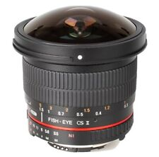 Samyang F3.5/8mm 1:3.5 8mm UMC Fish Eye CS II Lens - Canon