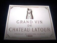 etiquette vin Chateau Latour 1968 original wine label wein etikett 1er grand cru