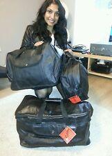 Honda GL1500 & 1200 Goldwing Motorbike Leather Luggage Pannier set, 3 lined bags