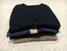 Bundle Of Cardigans: 2 Long 100% Cotton Beige And Blue, 2 Short Black Size M