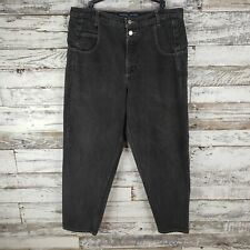 Vintage Guess Jeans Mens Loose Fit Tapered Leg Faded Gray Two Buttons Size 36x30
