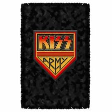 KISS ARMY LOGO WOVEN THROW BLANKET TAPESTRY OFFICIAL 2016 - BEAUTIFUL COLORS