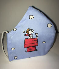 Peanuts Snoopy Fabric Face Mask 1Cotton Homemade UK Filter & Nose Wire Pocket