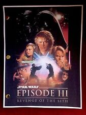 Star Wars™ EPISODE III Revenge of the Sith LUCASFILM Rare Screenplay SCRIPT