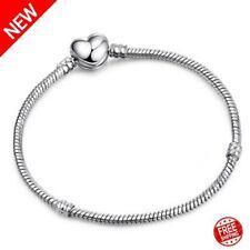 2pcs Authentic Sterling Silver Barrel Charm Women Fine Bracelets Gift 👩❤️