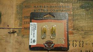 Harley Davidson Yellow Wedge Light Bulbs .19A  75186-01 67136-85 161 Evo