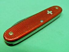 Victorinox / Elinox 93mm Woodsman Swiss Army Knife in Red Alox old cross