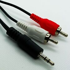 3.5mm Spina Jack Stereo a 2 spine fono RCA lunghezza cavo audio 1.5m (4.92ft)