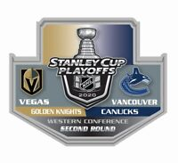 2020 STANLEY CUP NHL PLAYOFFS PIN 2ND SECOND ROUND VEGAS GOLDEN KNIGHTS CANUCKS
