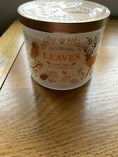 """Bath And Body Works """"Leaves"""" Large 3 Wick Candle"""