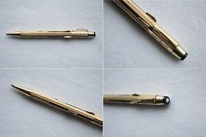RARE Montblanc Pix O Mat Solitaire Gold Plated 4 colour refill Ballpoint Pen