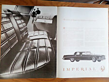 1963 Chrysler Imperial Crown Ad   1962 Miller High Life Beer Ad Couple Fireplace