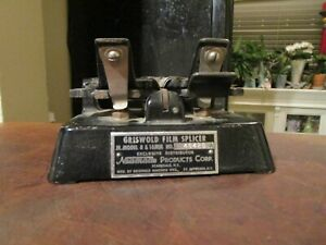 Vintage Griswold Film Splicer Jr. Model 8 & 16 mm Neumade USA Heavy Movie Works