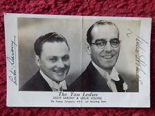 ENTERTAINERS THE TWO LESLIES AUTOGRAPHED PHOTO