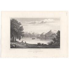 Cockburn Swiss Scenery antique 1820 engraving Pl 28 Chateau of Scherylingen