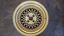 "15"" Wheels 15x8.25 Gold Rivets 4x100 Rims Mesh Miata E30 Civic JDM SSR Epsilon"