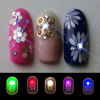 Flash Decals Fashion LED Nail Art DIY Lighting Nail Decals NFC Chip Stickers