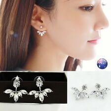 Women Fashion Rhinestone Crystal Earrings Ear Hoop Stud Jewelry Gift