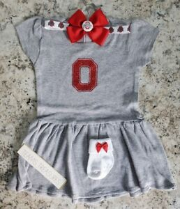 Ohio State baby clothes Baby girl ohio state Ohio State baby gift osu baby girl