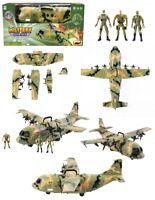 Cargo Combat Troops Cargo Plane Airforce Bomber Military Plane Army Figures UK