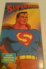 Superman 4 color animated cartoons VHS