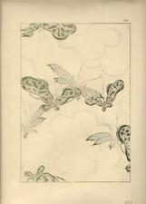 Stampa antica GIAPPONE JAPAN STYLE elementi decorativi Gillot 1885 Antique print