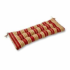 "Porch Swing Cushion Padding Outdoor Patio Pillow Bench Seat 44"" Red Stripe"