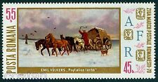 1970 Mail Coach in Winter,Dog,Horses,Stamp Day,Painting,Romania,Mi.2894,MNH