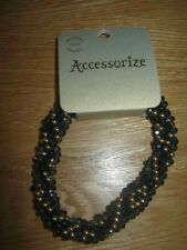 Accessorize Pretty Glass Bead & Stud Elasticated Bracelet  New With Tag