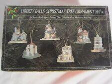 Liberty Falls Hand Painted Christmas Tree Ornament Set of 6 ornaments # L01