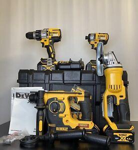 Dewalt 18V XR 5 Piece Kit with 4 x 4.0Ah Li-Ion Batteries and Tough System