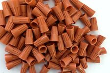 (1000 pc bag) Orange Screw-On Nut Wire Connectors P3 Small Barrel lot 22-14 AWG