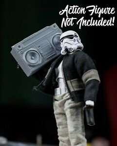 Grey Boombox/Tapedeck ACCESSORY ONLY Mezco, Marvel Legends 1/12