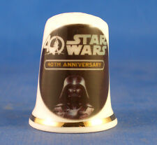 Birchcroft China Thimble -- Star Wars 40th Anniversary - Free Dome Box