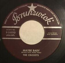 CRICKETS Maybe Baby/Tell Me How 45 Brunswick